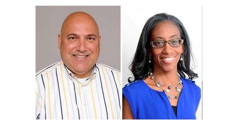 John Bendo, new vice president, and Anissa Moore,