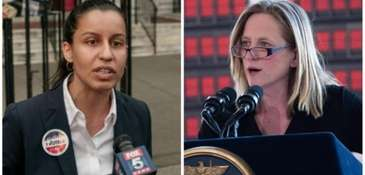 Tiffany Cabán, left, conceded in the Queens district