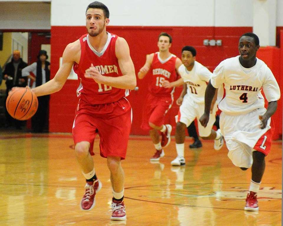 East Islip High School #12 Brian Johnson dribbles