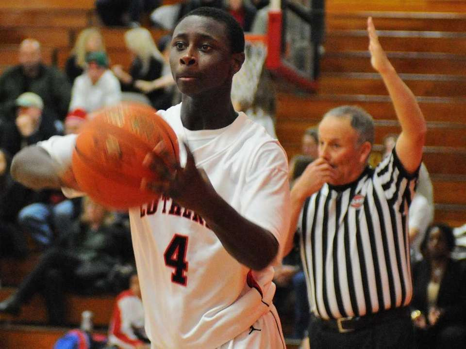 Long Island Lutheran High School's Chris Atkinson makes