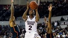 Mississippi State guard Eli Wright against Florida on