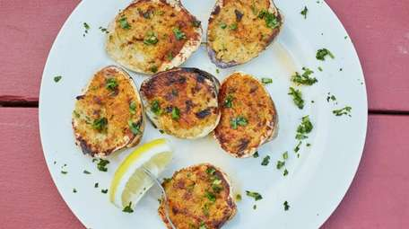 Baked clams are served at Otto's Sea Grill