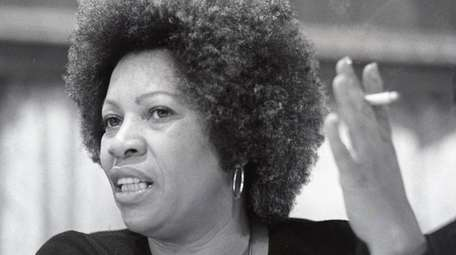 Toni Morrison speaks at a Newsday book and