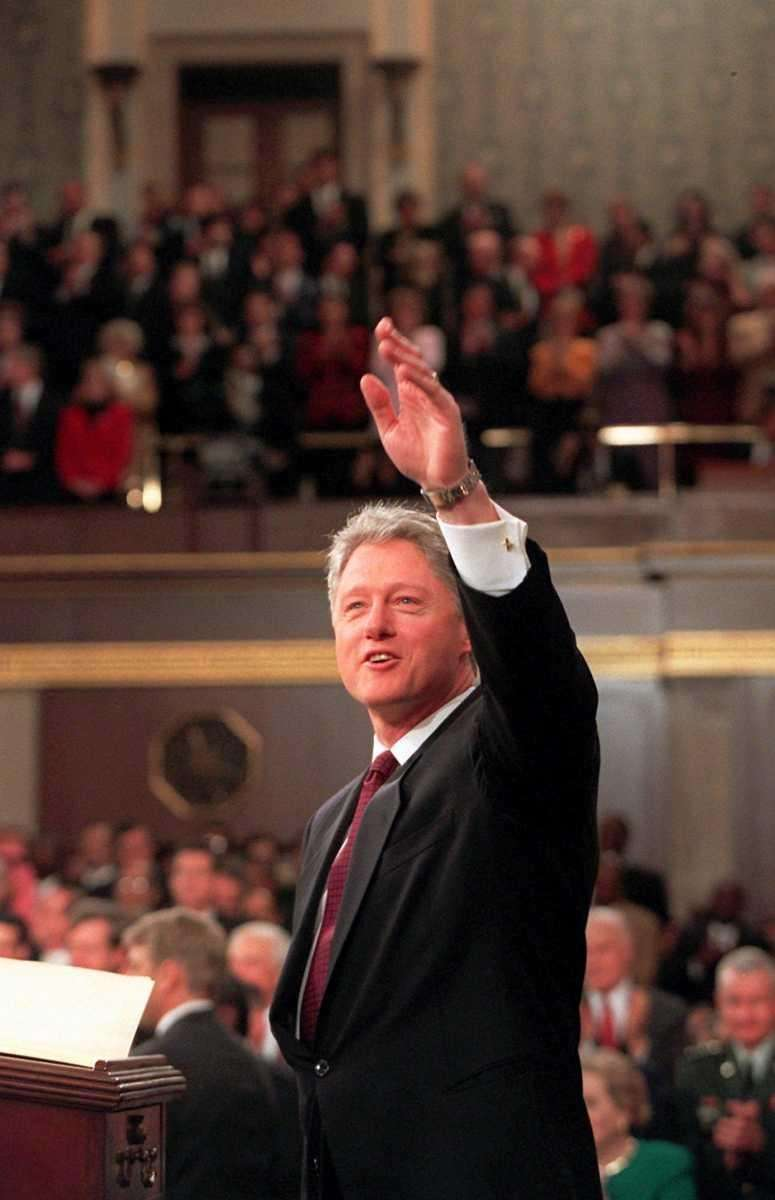 BILL CLINTON, 1996 President Clinton's 1996 address is