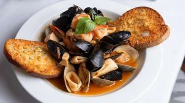 A local version of cioppino is served at