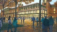 An updated renderings of Islanders' Belmont arena.