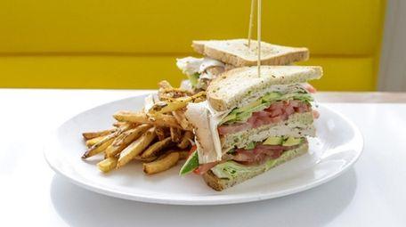 The triple decker turkey-avocado sandwich at the Silver