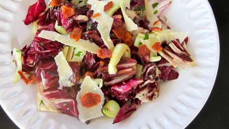 This winter radicchio salad is warmed on top
