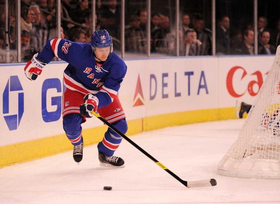 Anton Stralman of the New York Rangers with