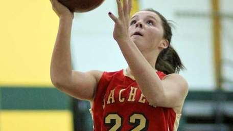 Sachem East's Meagan Doherty goes in for the