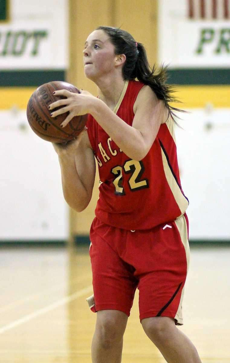 Sachem East's Meagan Doherty sets up for the