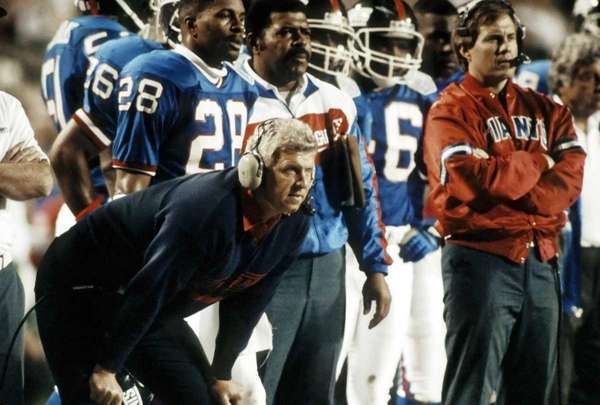 Head coach Bill Parcells of the New York