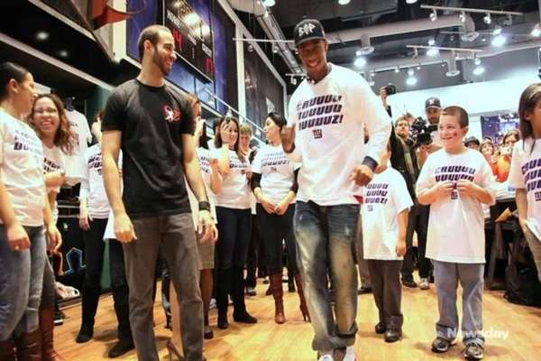 New York Giants wide receiver Victor Cruz does