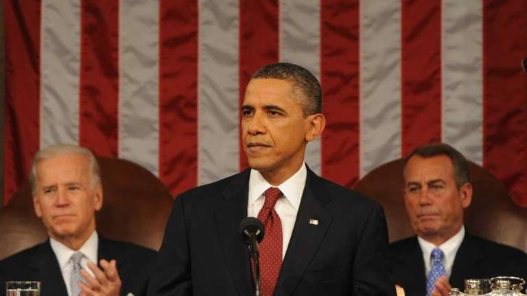 US President Barack Obama delivers his State of