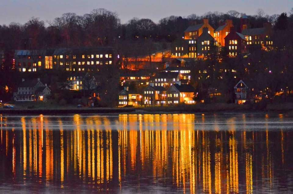Cold Spring Harbor Laboratory by twilight. (Jan. 11,