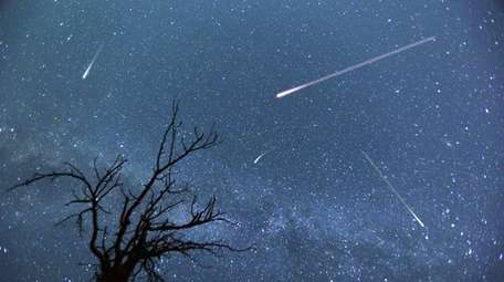 Peak viewing times of the meteor shower are