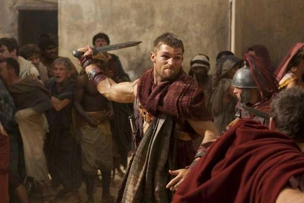 Liam McIntyre as Spartacus in Starz'