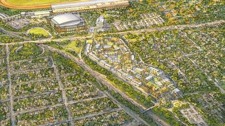 Rendering of the Belmont Park site