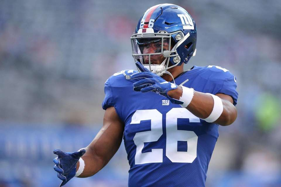 New York Giants running back Saquon Barkley (26)