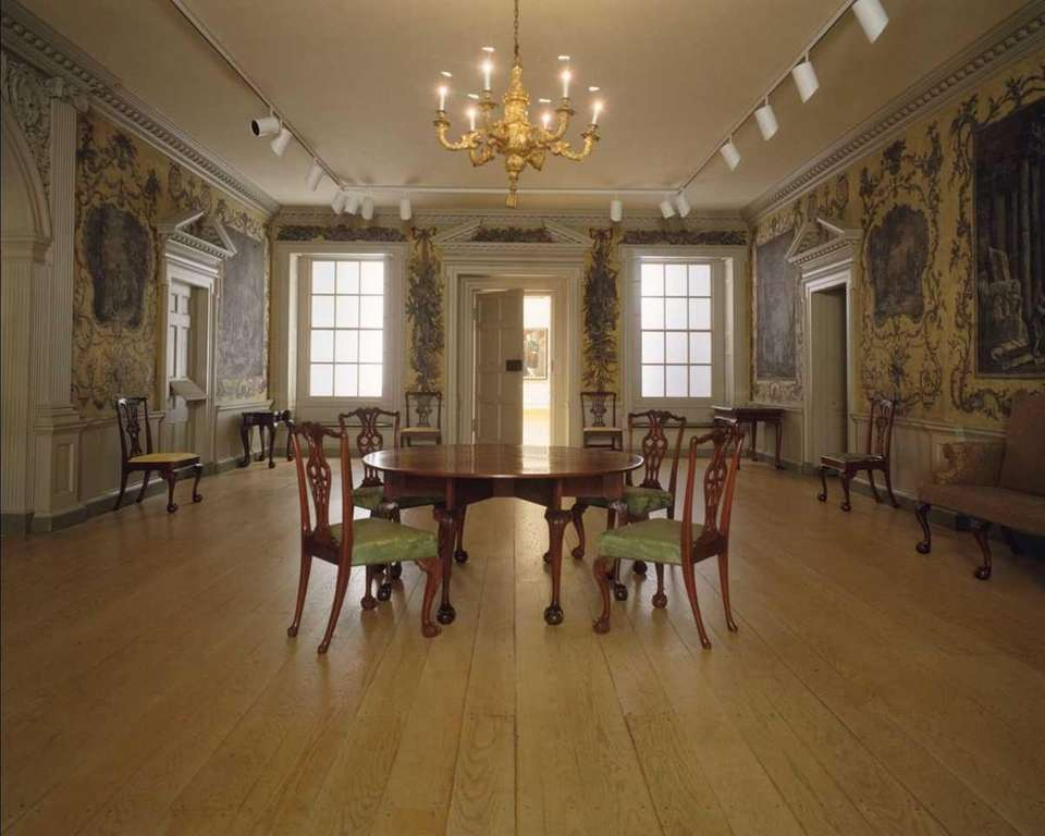 The Great Hall of Van Rensselaer Manor House,