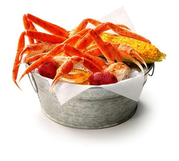 Bucket of snow crab, Joe's Crab Shack