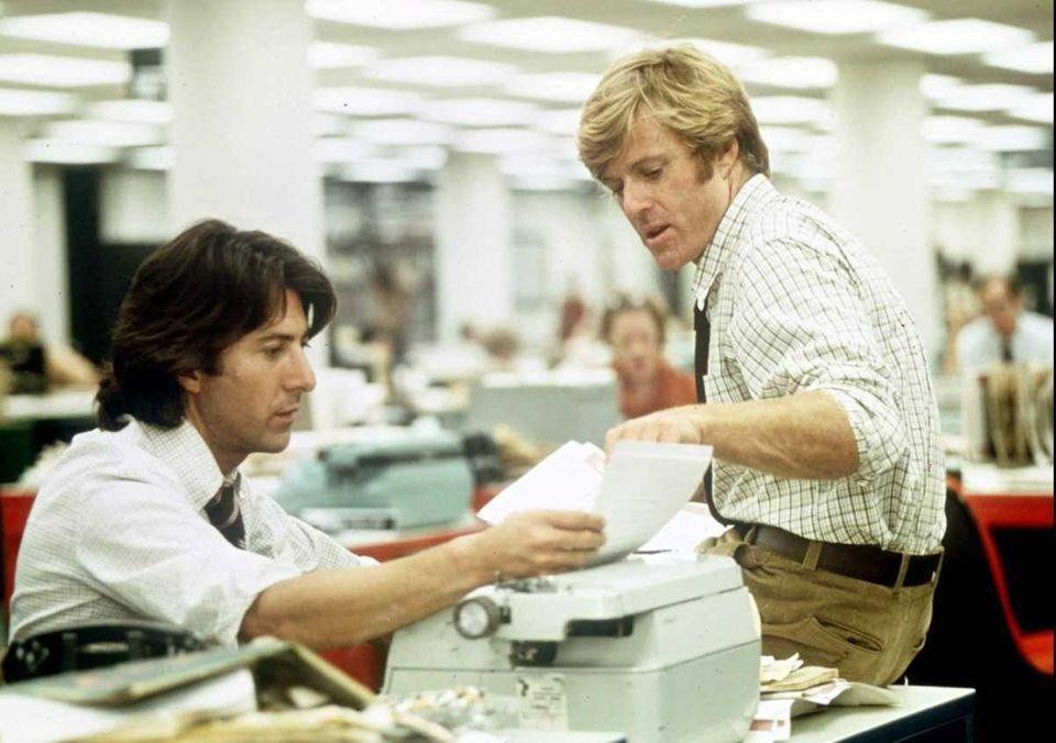 Robert Redford, right, and Dustin Hoffman portray Washington