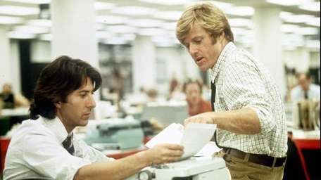 Robert Redford, right, and Dustin Hoffman portray Washington