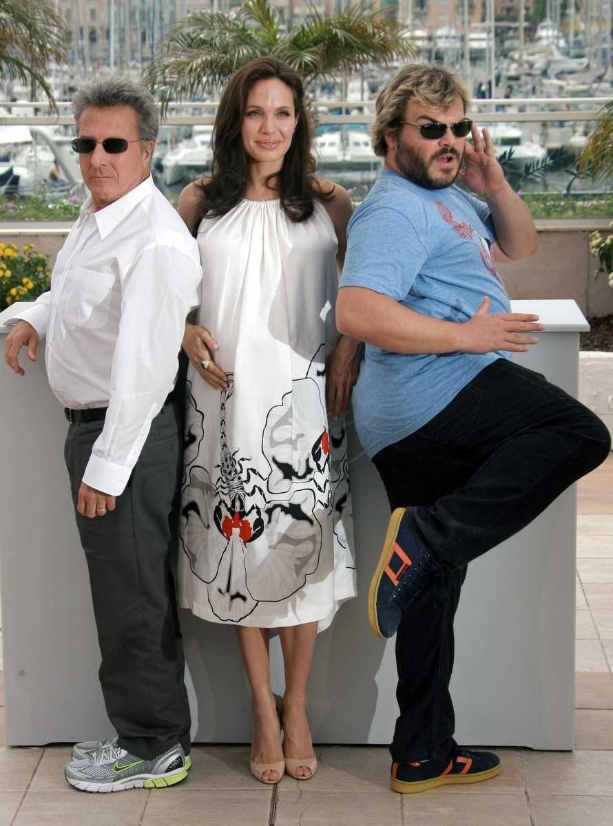 From left, American actors Dustin Hoffman, Angelina Jolie,