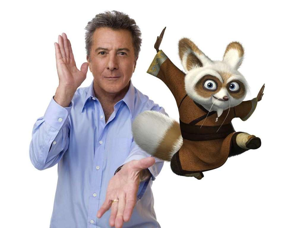 Dustin Hoffman voices Shifu, the renowned trainer of