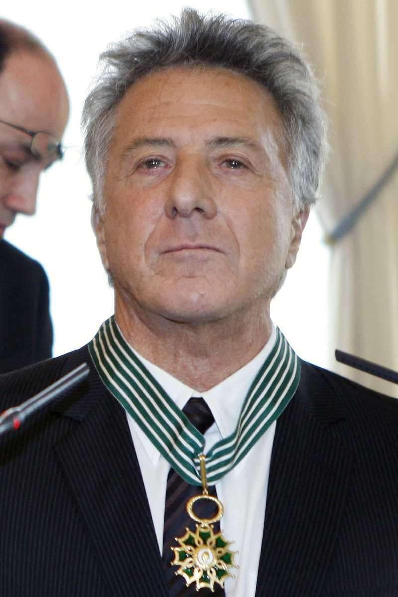 US actor Dustin Hoffman reacts after being awarded