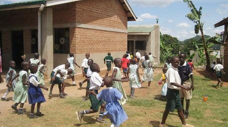 St. Kizito Primary School in Gganda, Uganda, shortly