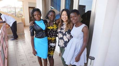 Angie Max, BULA's assistant director, second from right,