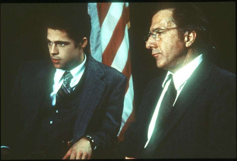 Brad Pitt (left) and Dustin Hoffman in