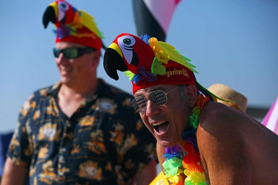 Jimmy Buffett fans Chris Pagano, Massapequa, and Sean