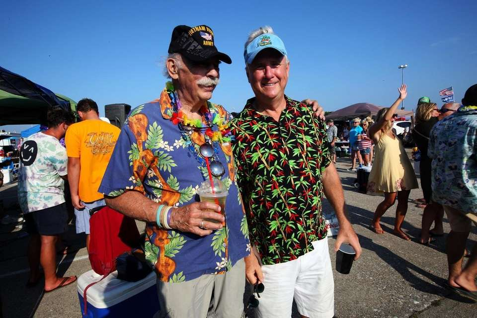 Long time Jimmy Buffett fans Bob Greenfield, West