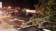 Emergency crews work near Hempstead and Woodfield avenues