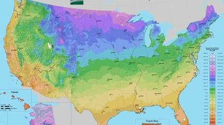 An updated USDA Hardiness Zone Map was released