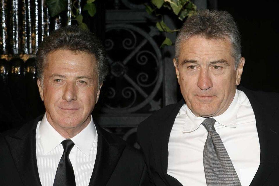 Actors Dustin Hoffman, left, and Robert De Niro