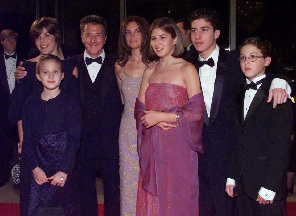 Dustin Hoffman, second from left, poses with his