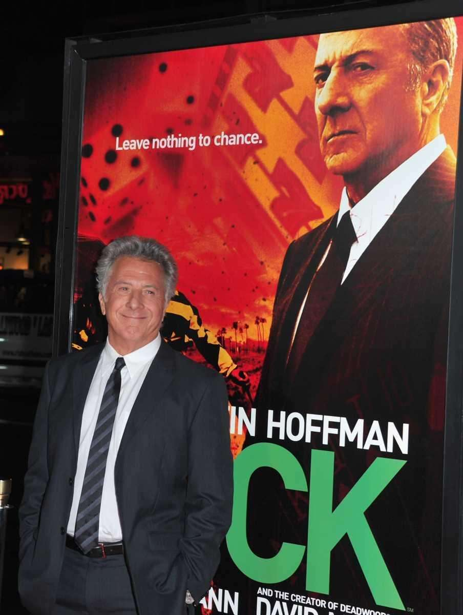 Actor Dustin Hoffman arrives to the premiere of