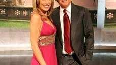 quot;Wheel of Fortunequot; hosts Pat Sajak (R) and