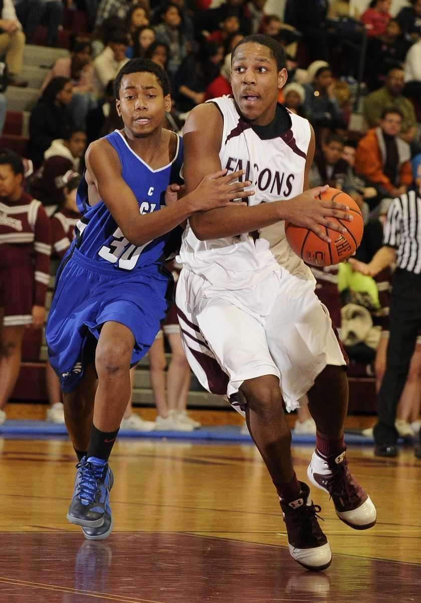 Deer Park guard Keith Williams is fouled by