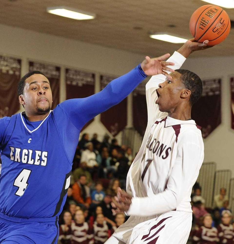 Deer Park guard Sean Scott looks to shot