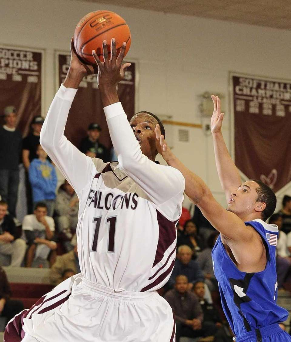 Deer Park guard Sean Scott draws a foul