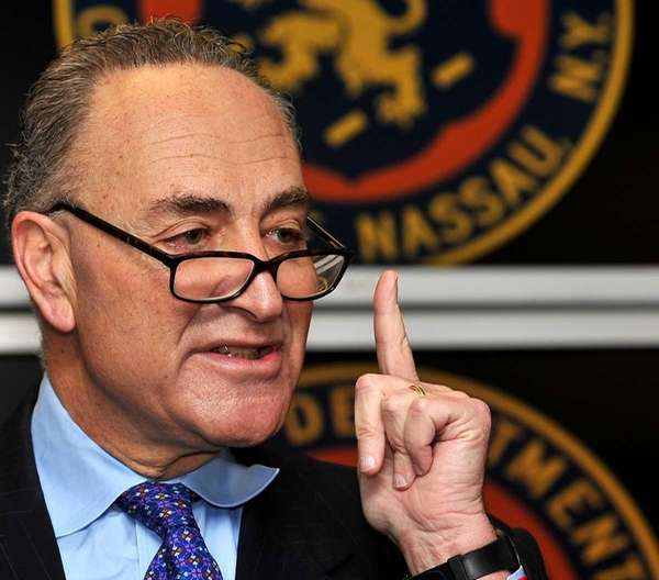 Sen. Charles Schumer (D-N.Y.) holds a news conference