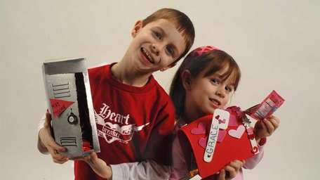 Sam Canonica, 7, and his sister Grace, 5,