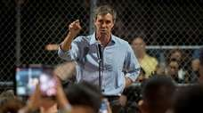 Democratic presidential candidate Beto O'Rourke speaks on Sunday