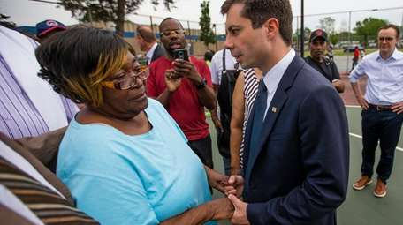 Mayor Pete Buttigieg of South Bend, Ind., shares