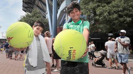 Elijah Gill, 8, and Tafari Gill, 11, of