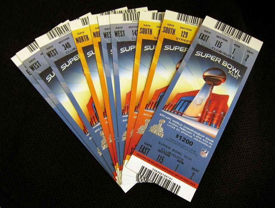 Super Bowl XLVI tickets Indianapolis (Jan. 24, 2012)